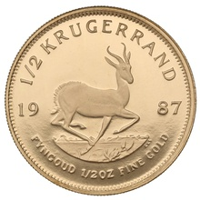 1987 Proof Half Ounce Krugerrand Gold Coin