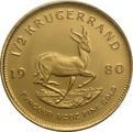 1980 Half Ounce Krugerrand Gold Coin