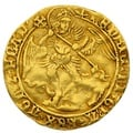 1499-1502 Henry VIII Angel Gold Coin - mm Anchor