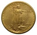 1907 $20 Double Eagle St Gaudens Gold coin - No Motto, Philadelphia