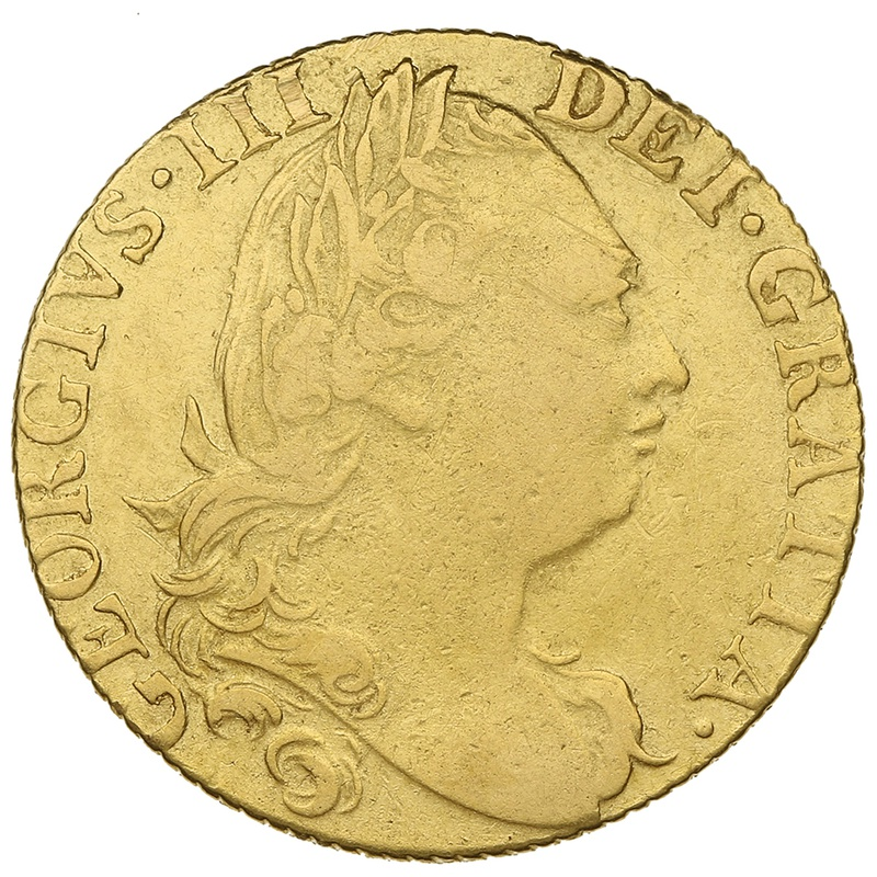 1776 George III Gold Guinea - About Extremely Fine