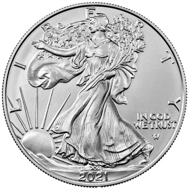 2021 1oz American Eagle Silver Coin Type II
