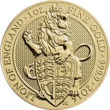 1oz Gold Coin, Lion of England - Queen's Beast 2016