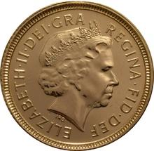 2000 Gold Half Sovereign Elizabeth II Fourth Head