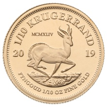 2019 1/10oz Gold Proof Krugerrand - Boxed
