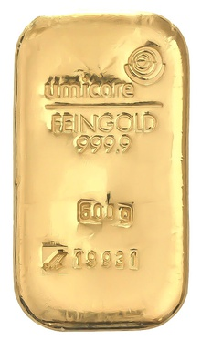 Umicore 500 Gram Gold Bar