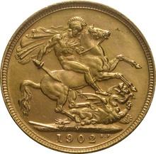 1902 Gold Sovereign - King Edward VII - M