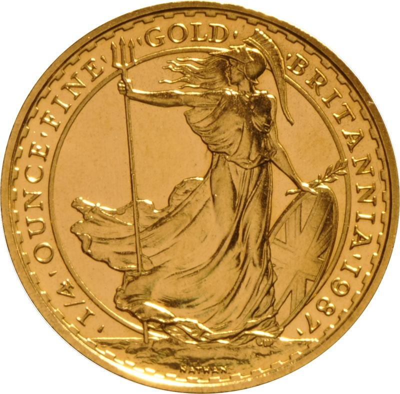 1987 Quarter Ounce Britannia Gold Coins