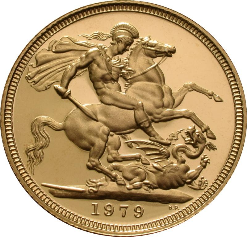 1979 Gold Sovereign - Elizabeth II Decimal head Proof