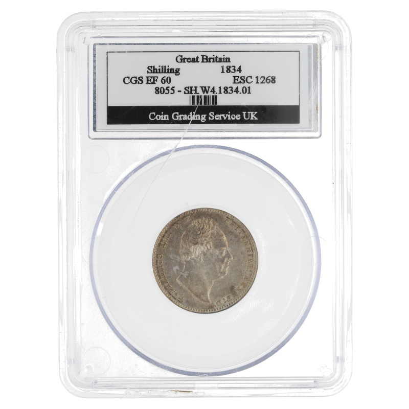 1834 Shilling CGS EF60