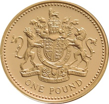 2008 Gold Proof £1 One Pound Coin Boxed
