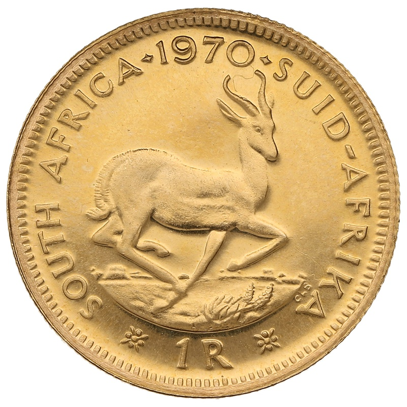 1970 1R 1 Rand coin South Africa