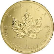 2014 Half Ounce Gold Canadian Maple