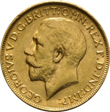 1915 Gold Sovereign - King George V - P