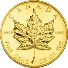 1986 1oz Canadian Maple Gold Coin