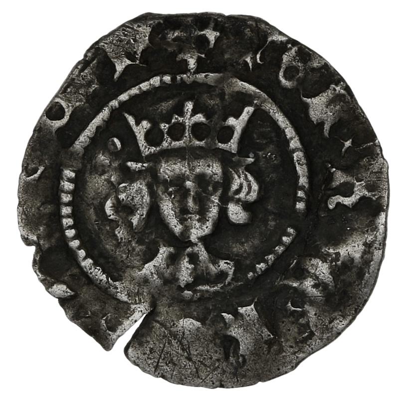1445-54 Henry VI Silver Penny London. 1leaf-Pellet issue