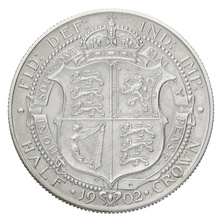 1902 Edward VII Silver Half Crown Matt Proof