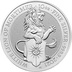 2021 10oz Silver Coin, The White Lion of Mortimer - Queen's Beast