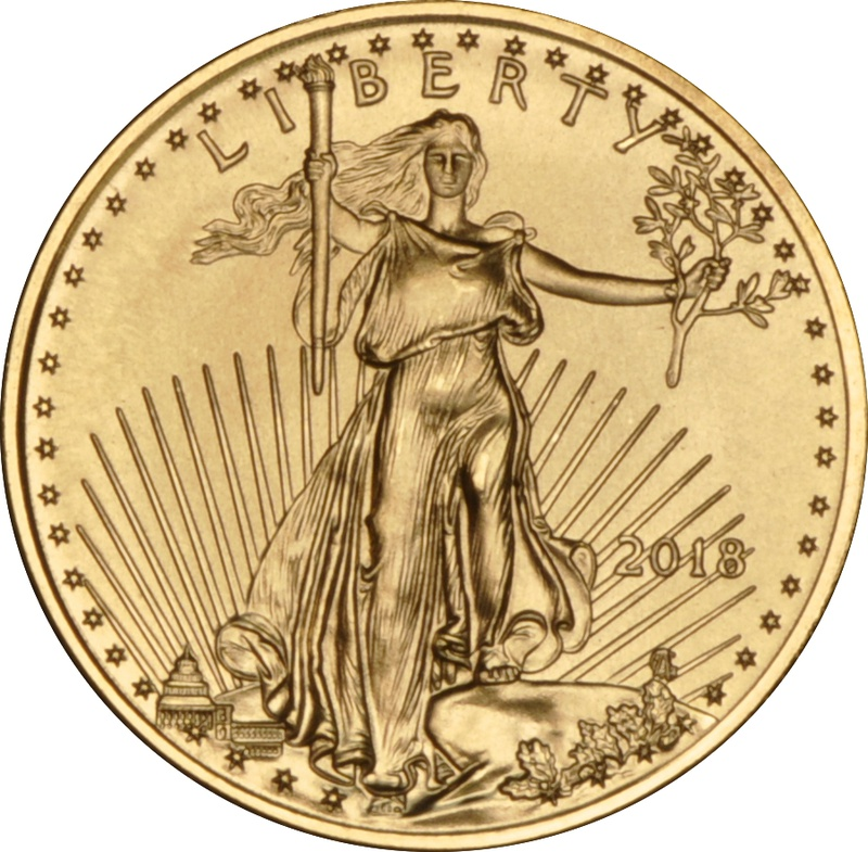 2018 Tenth Ounce American Eagle Gold Coin