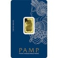 PAMP 5 Gram Gold bar Minted