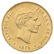 1879 Alfonso XII Gold 25 Pesetas