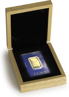 PAMP 1oz Gold Bar Gift Boxed