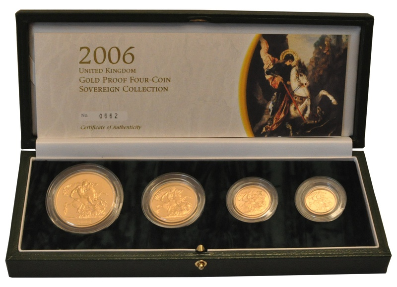 2006 Gold Proof Sovereign Four Coin Set Boxed