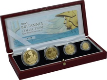 2006 Proof Britannia Gold 4-Coin Set Boxed