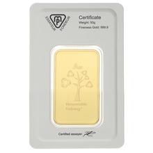 Metalor 50 Gram Gold Bars