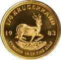 1983 Proof Quarter Ounce Gold Krugerrand