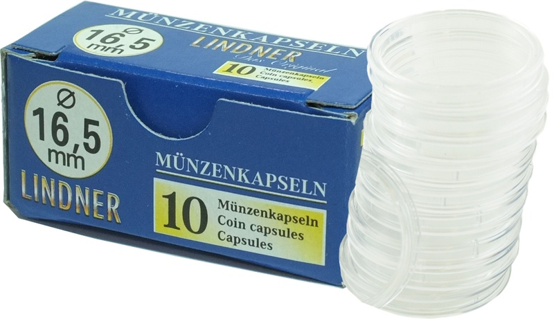 Lindner 16.5mm Capsules (suitable for Tenth Ounce Coins) (10 Box)