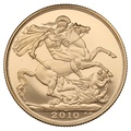 2010 £2 Two Pound Proof Gold Coin (Double Sovereign)