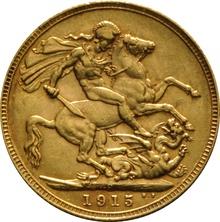 1915 Gold Sovereign - King George V - P