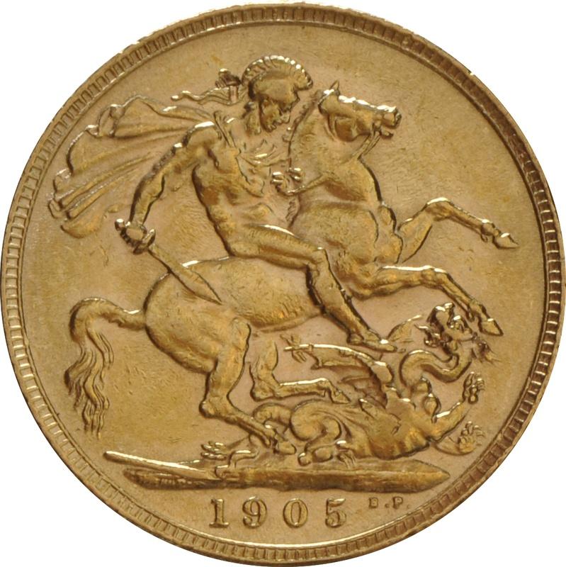 1905 Gold Sovereign - King Edward VII - London