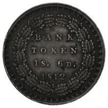 1812 George III Silver Eighteenpence Bank Token