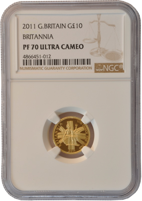 2011 Tenth Ounce Proof Britannia Gold Coin NGC PF70