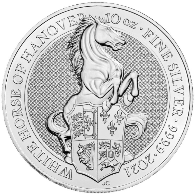 2021 10oz Silver Coin, The White Horse of Hanover - Queen's Beast