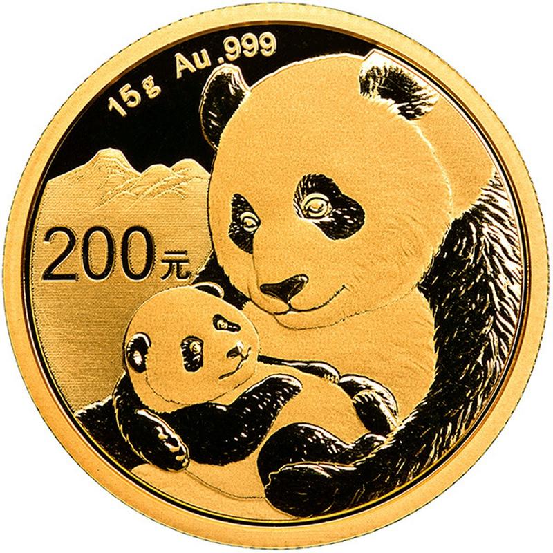 2019 15g Gold Chinese Panda Coin