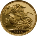 1986 Gold Sovereign - Elizabeth II Third head Proof
