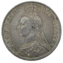 1888 Queen Victoria Silver Milled Florin