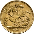 1902 Gold Half Sovereign - King Edward VII - London