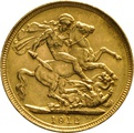 1912 Gold Sovereign - King George V - S