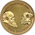 2009 £2 Two Pound Proof Gold Coin: Charles Darwin
