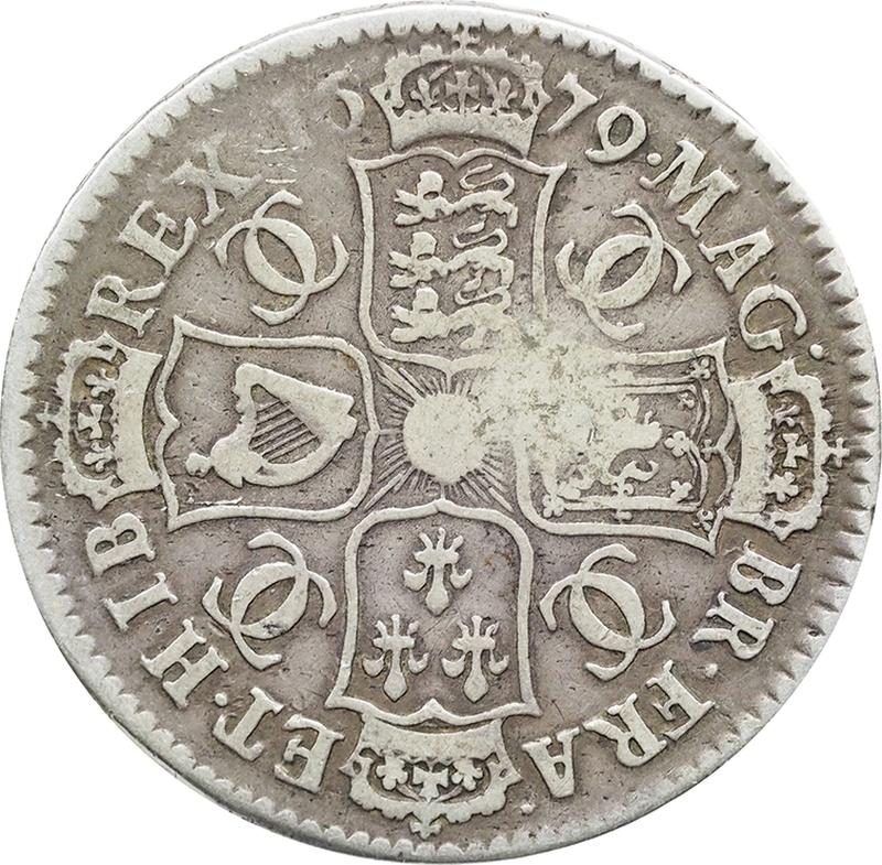 1679 Charles II Halfcrown - Fine
