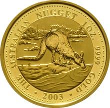 2003 1oz Gold Australian Nugget