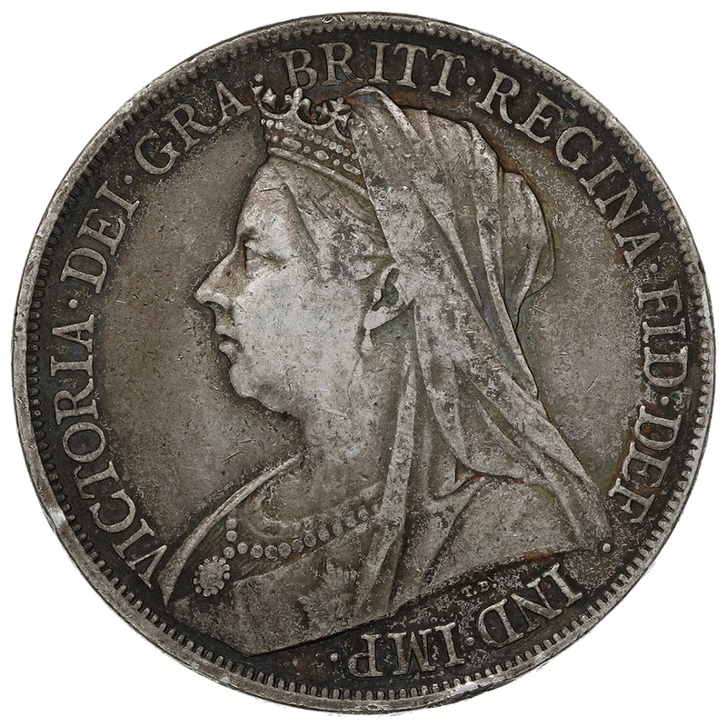 1900 Queen Victoria Silver Crown-About Fine