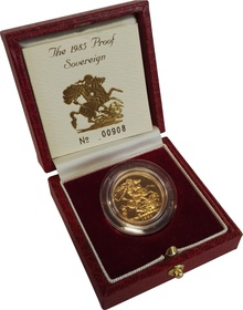 Gold Proof 1985 Sovereign Boxed