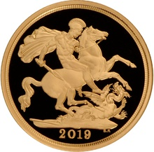 Gold Proof 2019 Sovereign Boxed