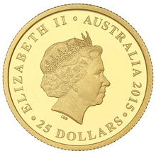 Perth Mint 2015 Longest Reigning Monarch 1/4oz Gold Proof Coin Boxed