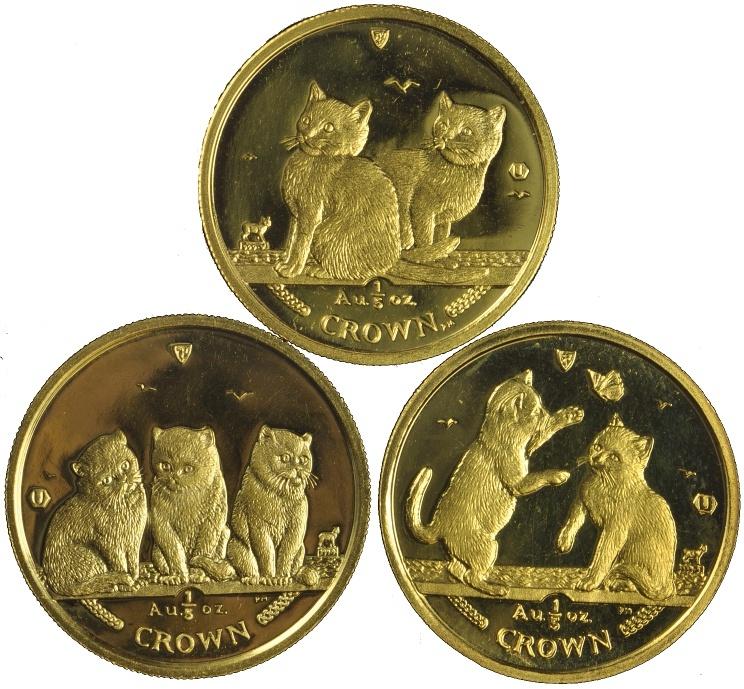 1 5 Ounce Isle Of Man Manx Cats 163 371 40